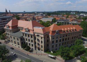 Luftaufnahme des CEG von der Ostseite aus