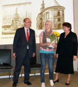 Preisübergabe durch Landtagspräsidentin Barbara Stamm und Generalkonsul Filippo Scammacca del Murgo