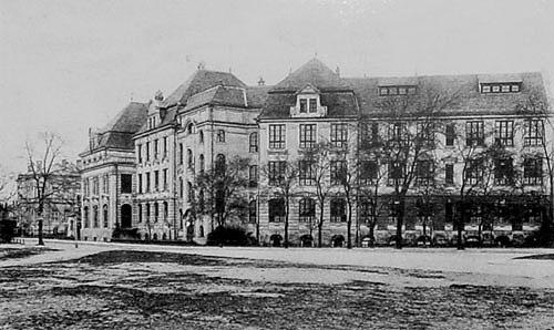 Die Süd-Ost-Ansicht des alten Gebäudes