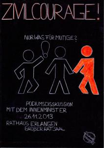 Entwurf des Plakats von Leonie Büttner, 9e