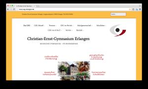 Neue Webseite des CEG