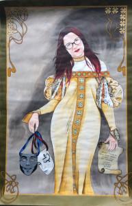 Frau Ittner als Sinnbild von Theater und Latein