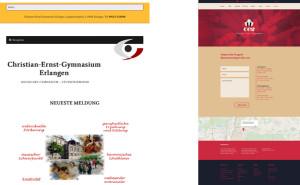 Vergleich Homepage - Entwurf