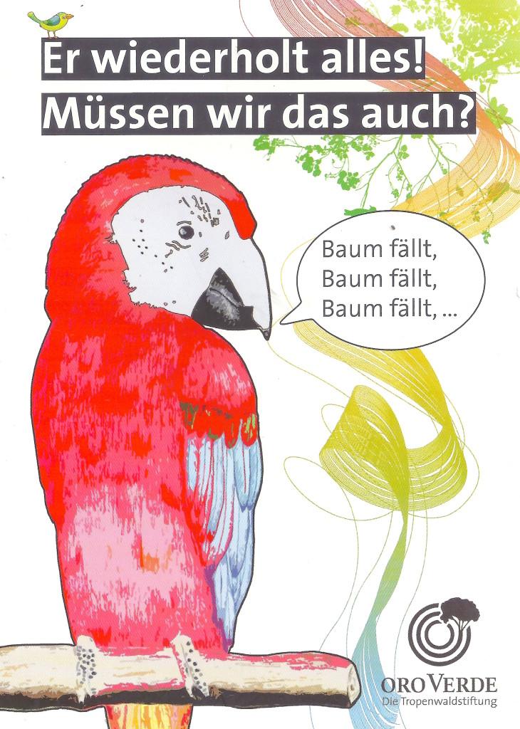 Umsetzung als Postkarte der Tropenwaldstiftung Oro Verde
