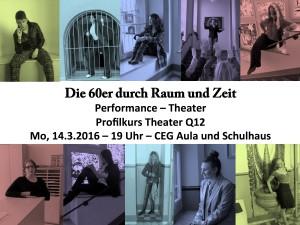Die 60er durch Raum und Zeit (Performance-Theater)