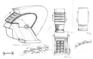 Entwurfszeichnungen von Ruhan Hizal