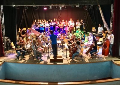 Anspielprobe des Festival-Orchesters