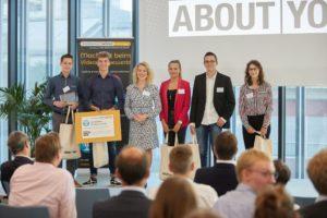 Siegerehrung beim Videoblogger-Wettbewerb 2018