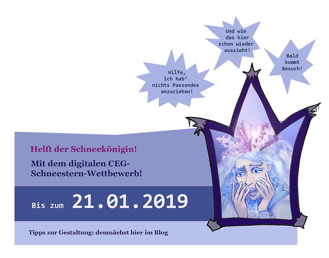 Ankündigung CEG-Schneestern-Wettbewerb