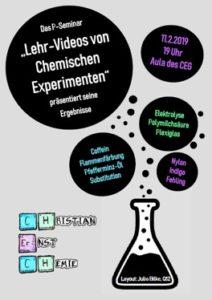 """Das zum 2. Mal durchgeführte P-Seminar """"Lehr-Videos von Chemischen Experimenten"""" präsentiert seine Ergebnisse"""