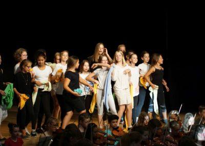 Peter und der Wolf (Singspiel der Theatergruppe der 6. Klassen und des Unterstufenorchesters - Juli 2018)