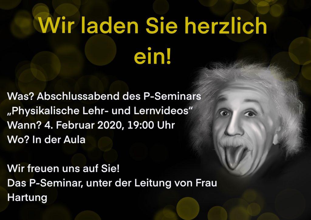 """Einladung """"Physikalische Lehr- und Lernvideos"""" am 04.02.2020 um 19 Uhr in der Aula des CEG"""
