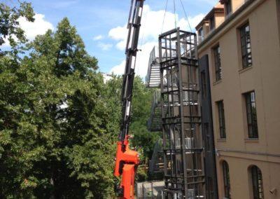 Bau des Aufzugs (2017)
