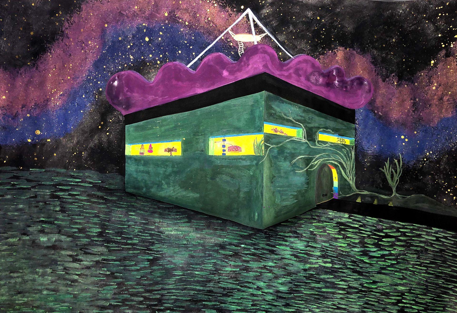 Kunstobjekt Futuristisches Zuhause von Enna Joy Friede, 9c