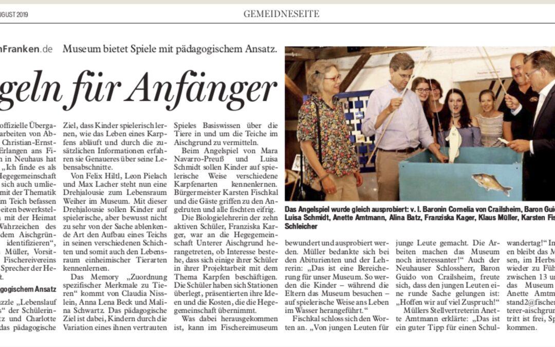 """Projektarbeiten des P-Seminars """"Fischereimuseum"""" finden großen Anklang"""